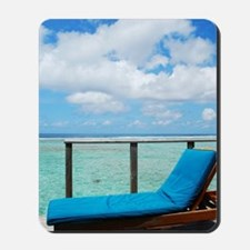 Water villa balcony in Maldives Mousepad