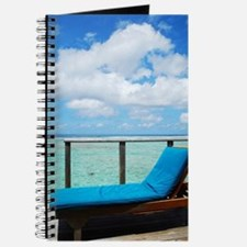 Water villa balcony in Maldives Journal