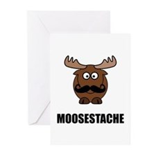 Moosestache Greeting Cards