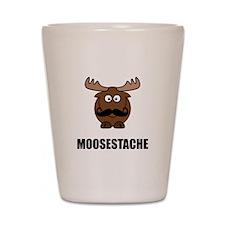 Moosestache Shot Glass