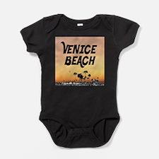 Venice Beach Boardwalk Sunset Baby Bodysuit