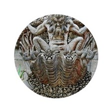 """Gargoyle at Pena Palace 3.5"""" Button"""