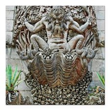 "Gargoyle at Pena Palace Square Car Magnet 3"" x 3"""