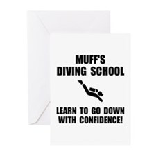 Muff Diving Greeting Cards