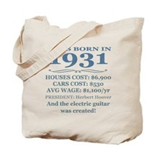 Birthday Facts-1931 Tote Bag