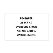 Normal Family Car Magnet 20 x 12