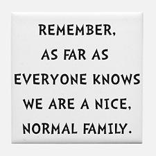 Normal Family Tile Coaster