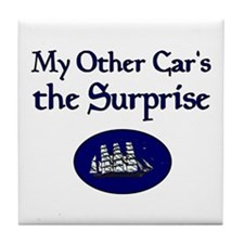 My Other Car's the Surprise Tile Coaster