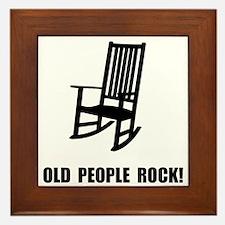 Old People Rock Framed Tile