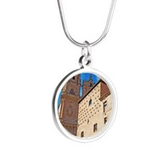 University and House of Shel Silver Round Necklace