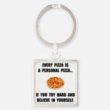 Personal Pizza Keychains