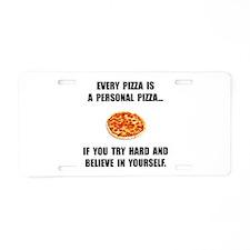 Personal Pizza Aluminum License Plate