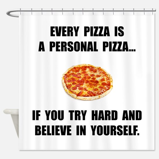 Personal Pizza Shower Curtain