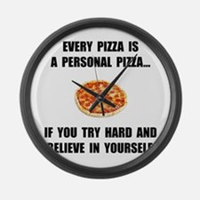 Personal Pizza Large Wall Clock
