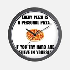 Personal Pizza Wall Clock
