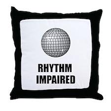 Rhythm Impaired Throw Pillow