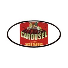 Carousel Vintage Fruit Vegetable Crate Label Patch