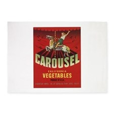 Carousel Vintage Fruit Vegetable Crate Label 5'x7'