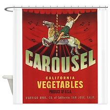 Carousel Vintage Fruit Vegetable Crate Label Showe