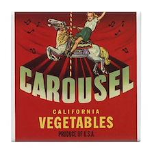 Carousel Vintage Fruit Vegetable Crate Label Tile