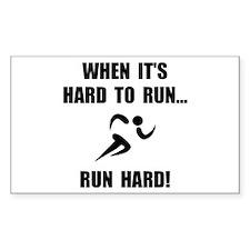 Run Hard Decal