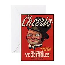 Cheerio Vintage Fruit Vegetable Crate Label Greeti