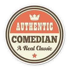 Comedian Vintage Round Car Magnet