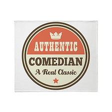 Comedian Vintage Throw Blanket