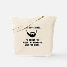 Shaved Manhood Tote Bag
