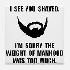 Shaved Manhood Tile Coaster