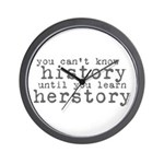 History vs. Herstory Wall Clock