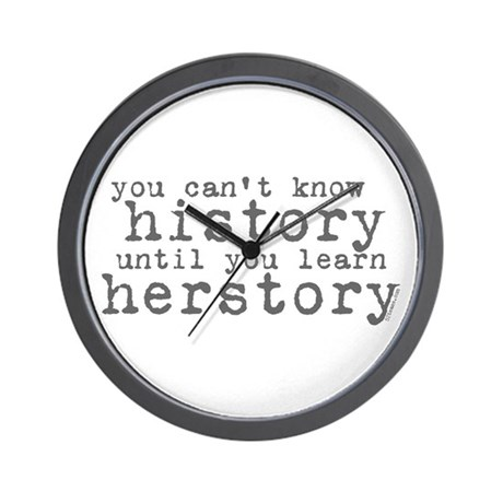 History vs. Herstory Wall Clock