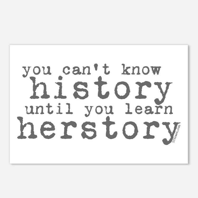 History vs. Herstory Postcards (Package of 8)