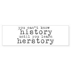 History vs. Herstory Bumper Bumper Sticker