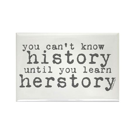 History vs. Herstory Rectangle Magnet (10 pack)