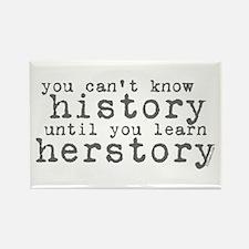 History vs. Herstory Rectangle Magnet