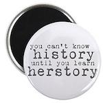 History vs. Herstory Magnet