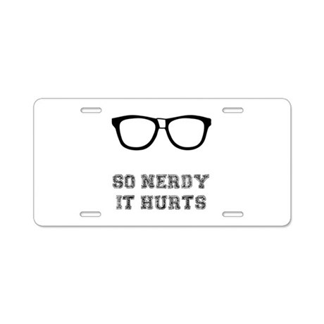 So Nerdy Aluminum License Plate