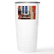 Lisbon window balcony Travel Mug