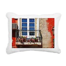 Lisbon window balcony Rectangular Canvas Pillow