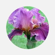 RAINBOW IRIS Round Ornament