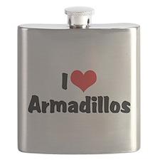 I Love Armadillos Flask