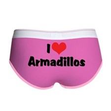 I Love Armadillos Women's Boy Brief