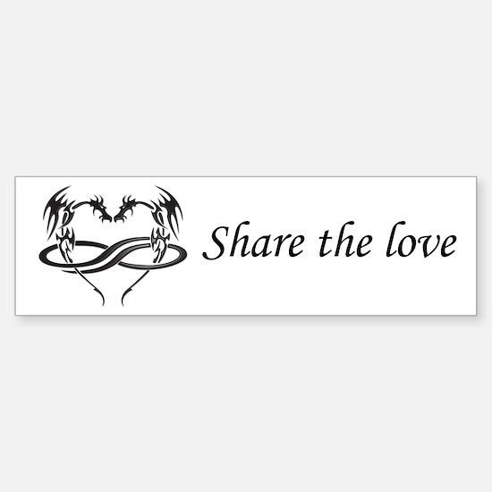 Share Love Polydragon Bumper Bumper Bumper Sticker