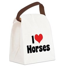 I Love Horses 2 Canvas Lunch Bag