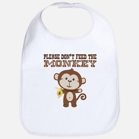 Please Dont Feed Monkey Bib