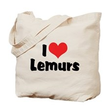 I Love Lemurs Tote Bag