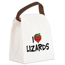 I Love Lizards Canvas Lunch Bag