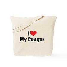I Love My Cougar Tote Bag