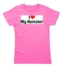 I Love My Hamster Girl's Tee